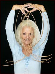 Lee Redmond after the loss of her world record longest fingernails.