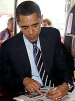 Barack Obama - a LEFT handed US president.