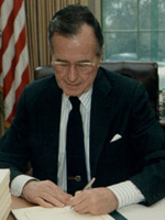George H.W. Bush - a LEFT handed US president.