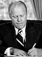 Gerald Ford - a LEFT handed US president.
