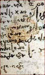 Fingerprint of Leonardo da Vinci