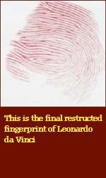 The fingerprint of Leonardo da Vinci!