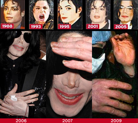 Michael Jackson fingernails from 2006 to 2009!