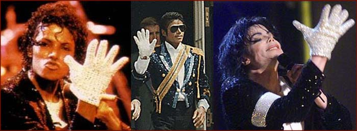 Michael Jackson's white hand glove became one of his trademarks.