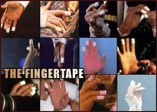 Michael Jackson: the fingertape!