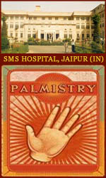 Jaipur, India: doctors study link possibility palmistry & HIV in Daiwa Man Singh hospital.