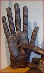 The hand of the risen Christ.