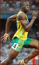 Usain Bolt: olympic world record holder & fastest runner ever.