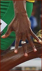 The world's fastest hand: Usain Bolt's left hand.