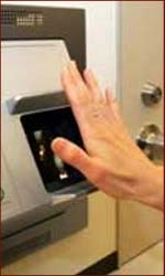Fujitsu corporation presents a palm-reading system to safeguard patient records.