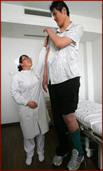 Zhao Liang from China is the new world's tallest man on earth.