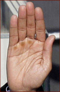 US president Barack Obama: his right hand.