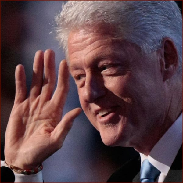 US president Bill Clinton: right hand wave photo