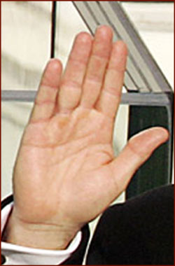 Former US president George W. Bush: his right hand.