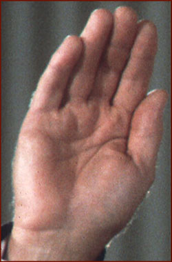 Former US president Gerald Ford: right hand photo