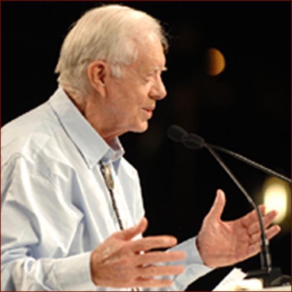 Former US president Jimmy Carter: open hands photo