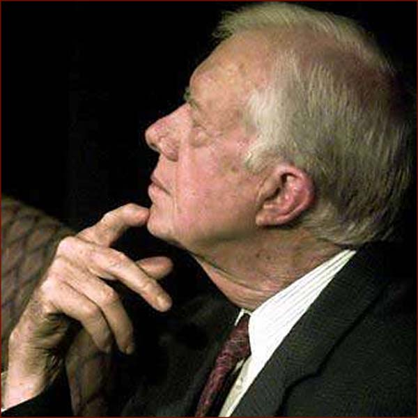Former US president Jimmy Carter: right hand thinker.
