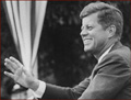 Former US president John F. Kennedy: right hand gesture.
