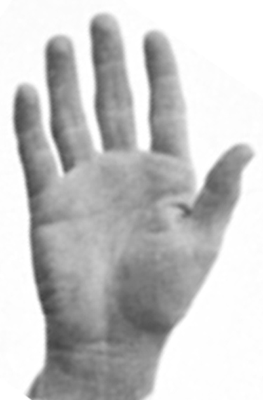 US president John F. Kennedy (JFK): right hand photo