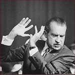Former US president Richard Nixon: hand gestures.