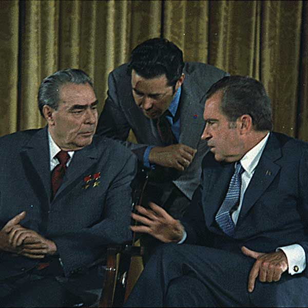 Former US president Richard Nixon & former Russian president Leonid Brezhnev