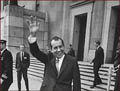 Former US president Richard Nixon: right hand waving.