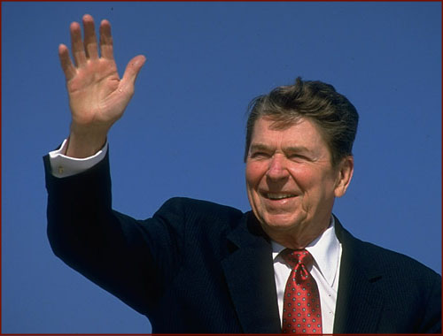 Ronald Reagan does not have a simian line.