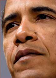 Barack Obama close-up.