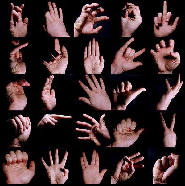 25 Hand gestures.