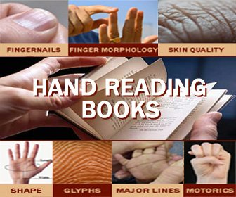 Hand reading books