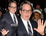 American actor Matthew Broderick has an incomplete simian line in his right hand.