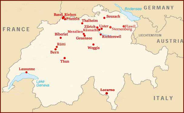 Hand reading network in Switzerland: map!