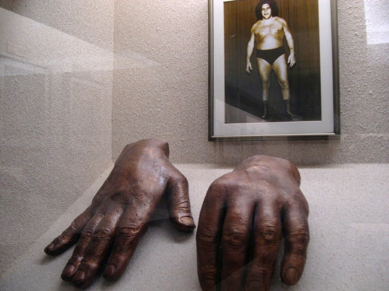 French actor/wrestler Andre the Giant: bronze hand casts at Adrian E. Flatt hand collection.
