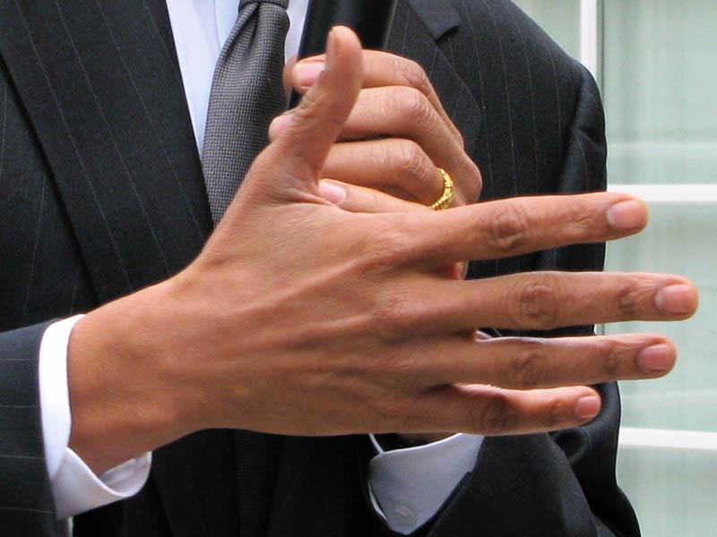Barack Obama's right hand.