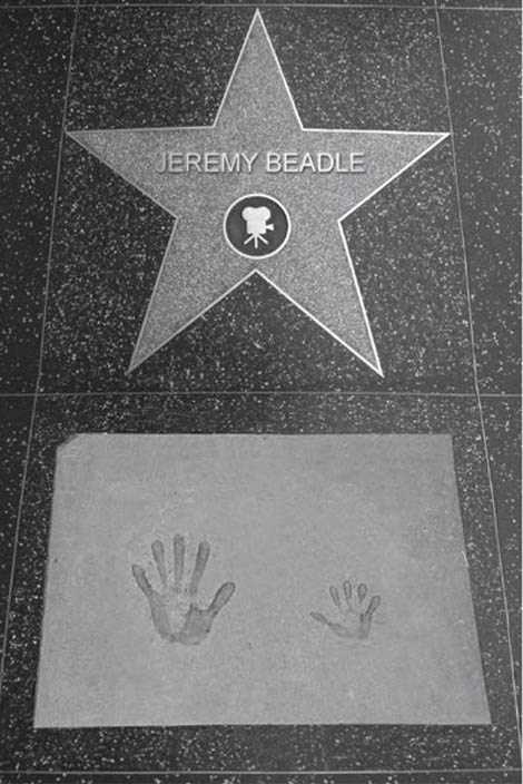 The 'Hollywood Stars of Fame' for Jeremy Beadle - just a joke.