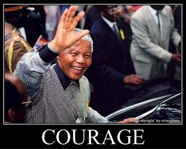 Nelson Mandela - a life story of courage.