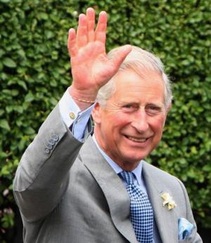 Prince Charles's right hand.