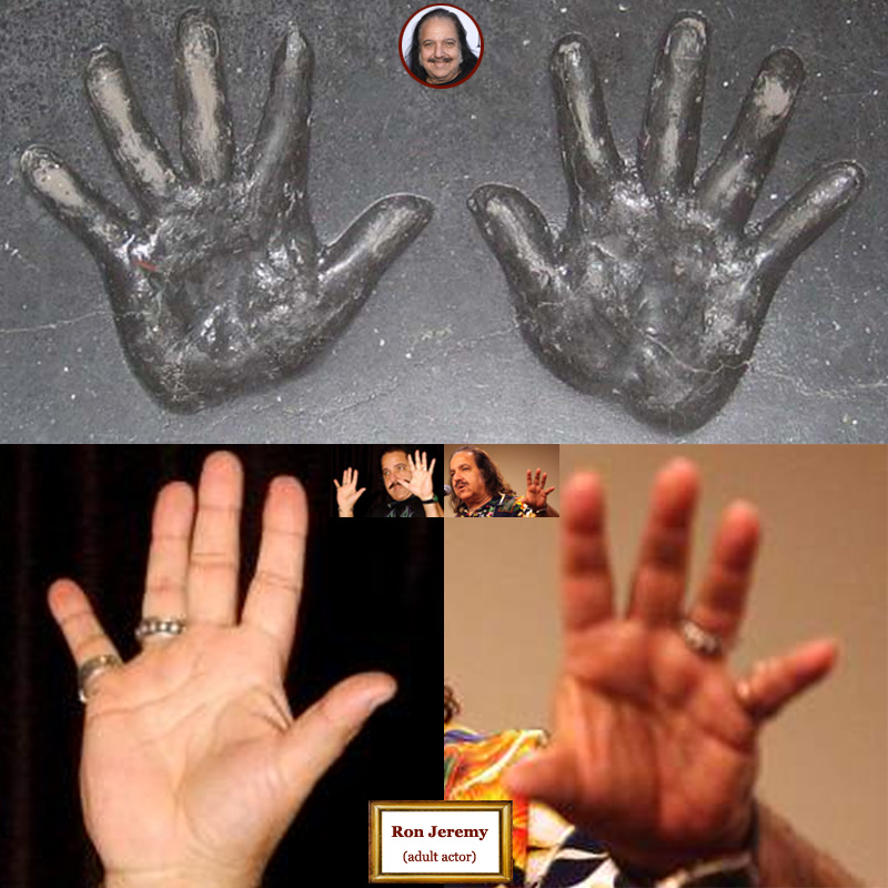 Ron Jeremy: hand shape assessment.