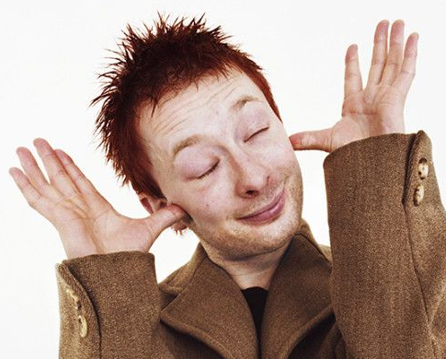 Thom Yorke has weird lines in both hands, right: incomplete simian line + Sydney line, left: very short heart line.