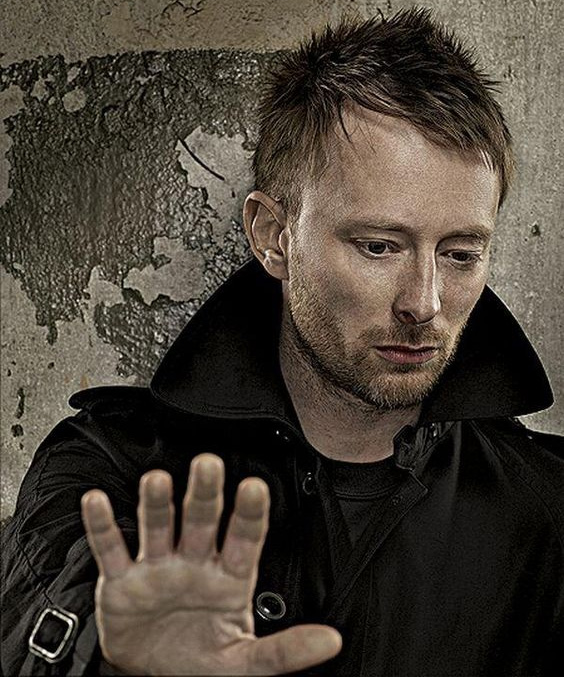 Thom Yorke has an incomplete simian line featured with a Sydney line.