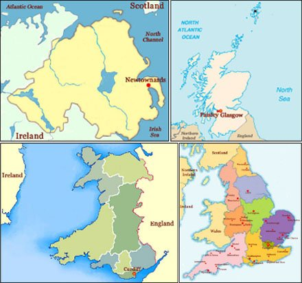 Hand reading network in the United Kingdom: map!